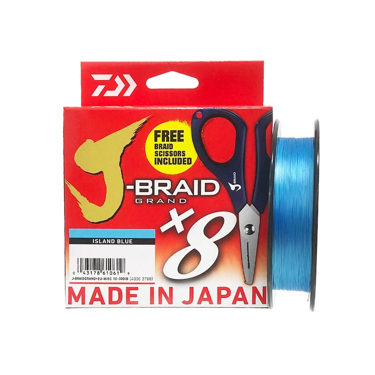 DAIWA J-BRAID GRAND X8 135M ISLAND BLUE + FORBICI