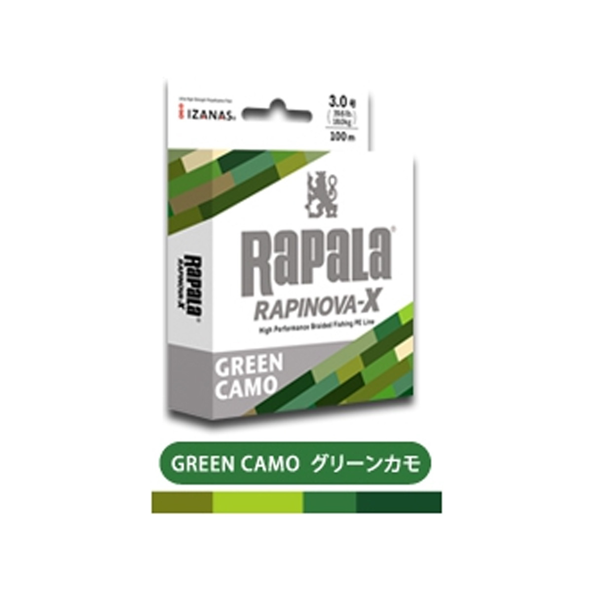 RAPALA RAPINOVA-X 100M GREEN CAMO