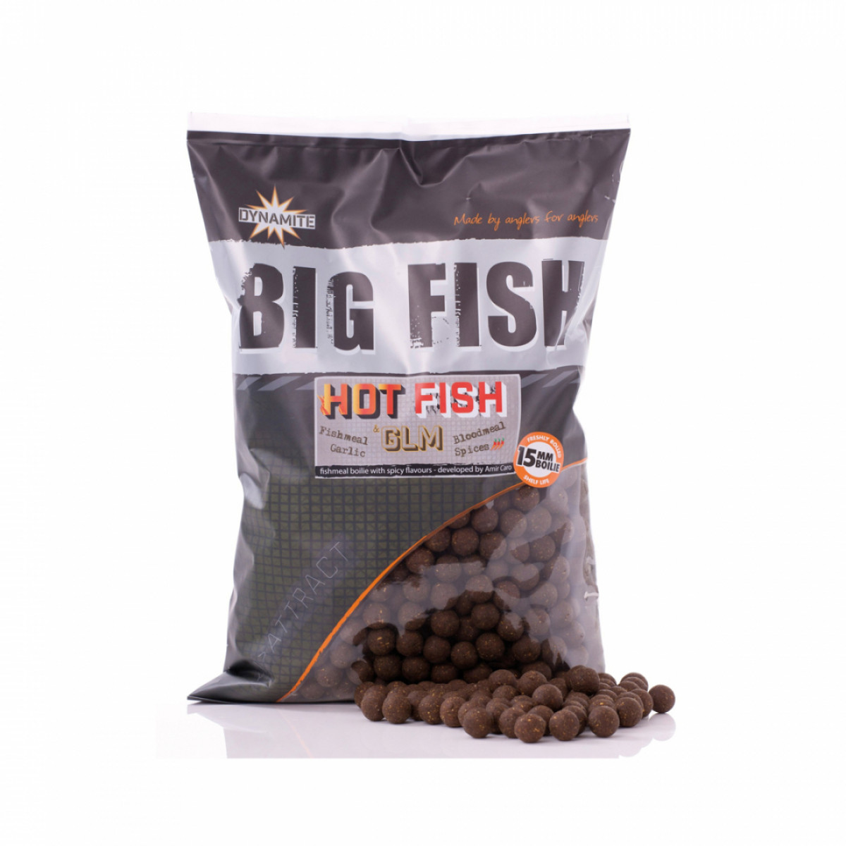 DYNAMITE BAITS HOT FISH & GLM BOILIES