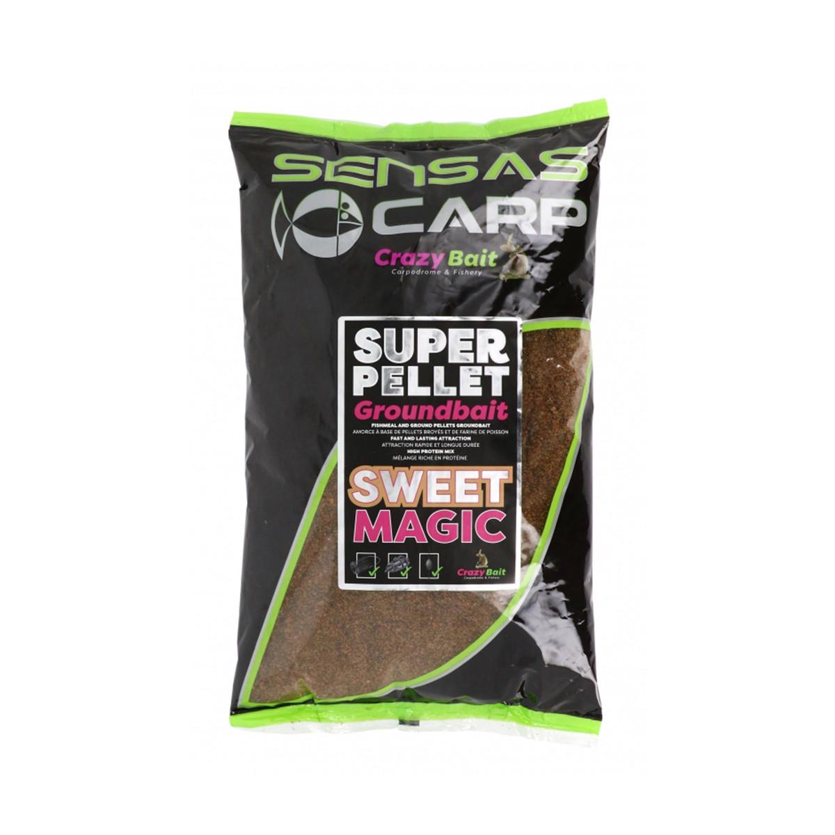SENSAS CARP CRAZY BAIT SUPER PELLET GROUNDBAIT