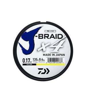 DAIWA J-BRAID X4 135M YELLOW