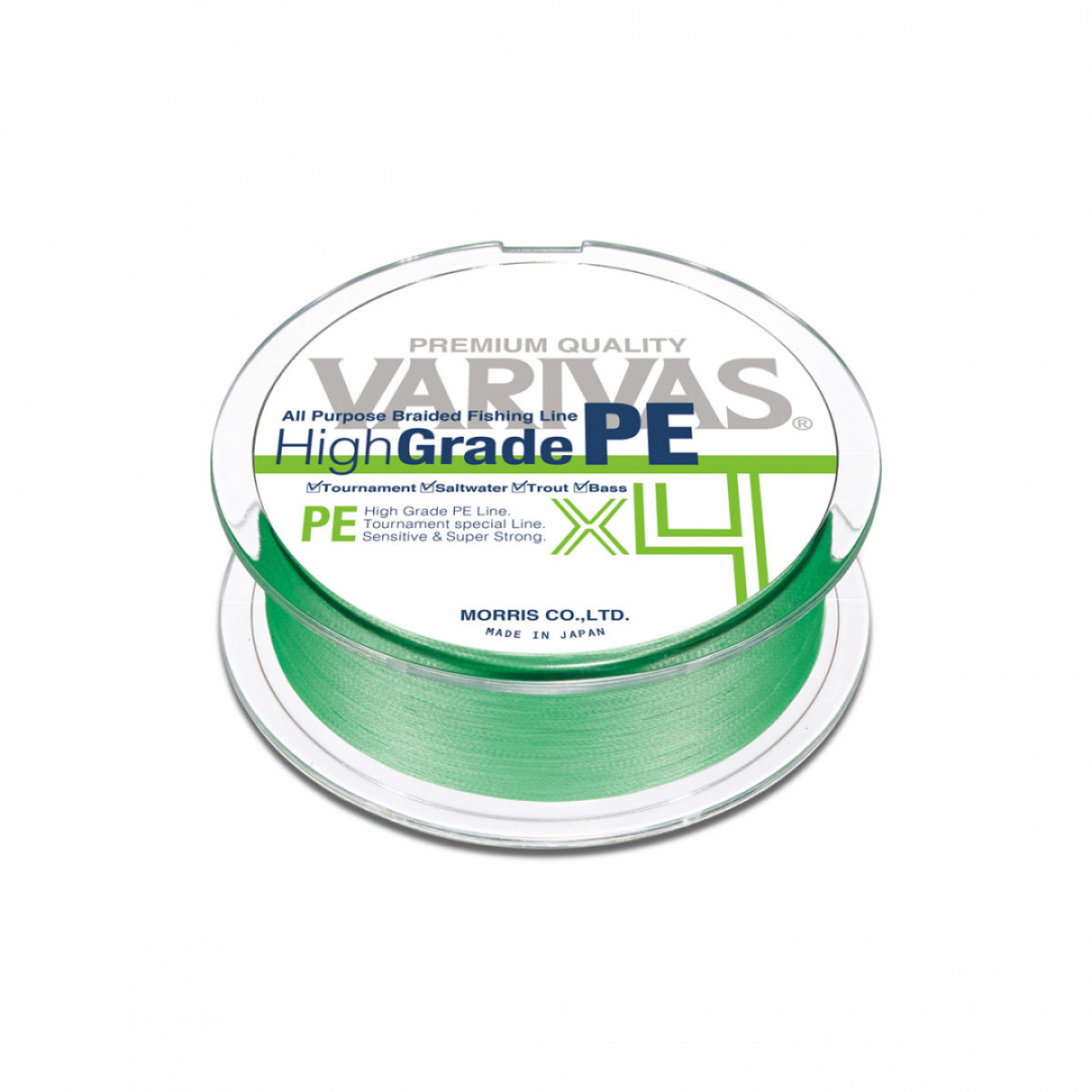 VARIVAS HIGH GRADE PE X4 150M FLASH GREEN
