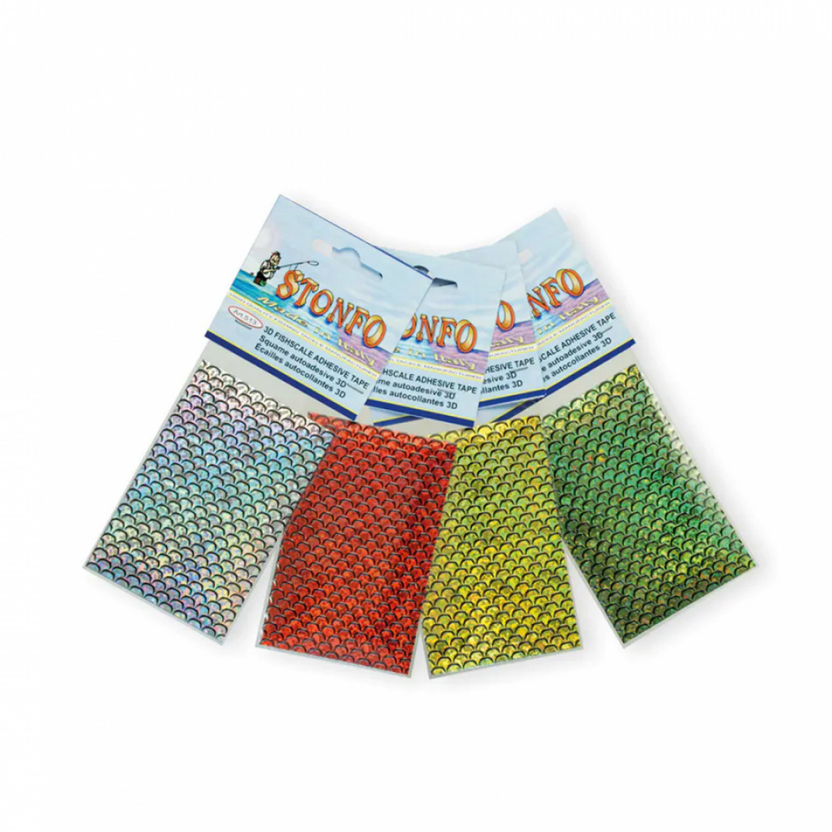 3D Fishscale Adhesive Tape