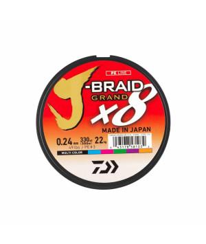 DAIWA J-BRAID GRAND X8 150M MULTI COLOR